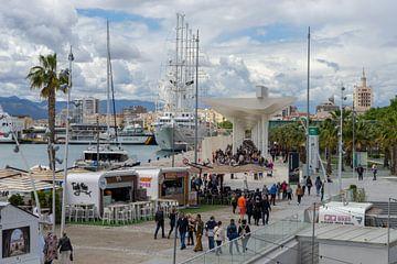 De pier van Malaga: Muelle uno. van Monique van Helden