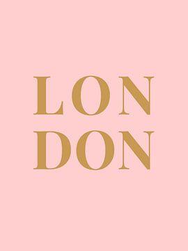 LONDON (in roze goud) van MarcoZoutmanDesign