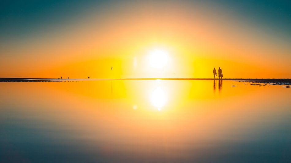 Breezand sunset reflection