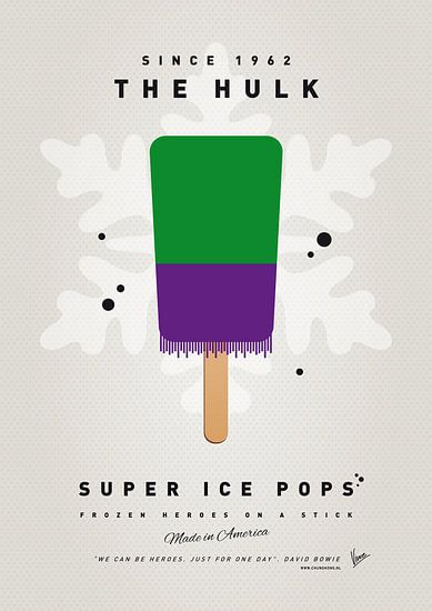 My SUPERHERO ICE POP - The Hulk van Chungkong Art