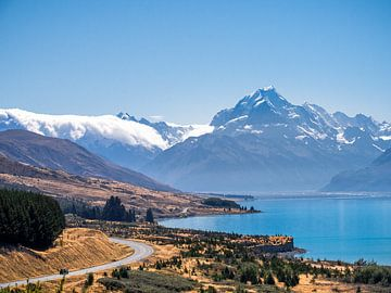 Nieuw-Zeeland - Mount Cook / Aoraki National Park - De weg naar de bergen van Rik Pijnenburg