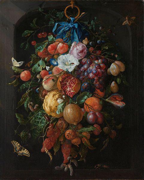 Stillleben Girlande aus Obst und Blumen - Jan Davidsz von Diverse Meesters
