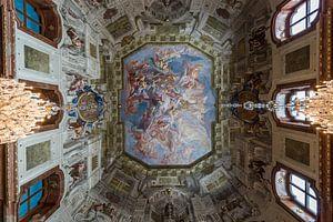 Fresco in museum Belvedere van