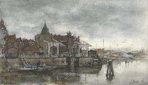 Das Äußere mit den Schreierstoren in Amsterdam, Jacob Maris.