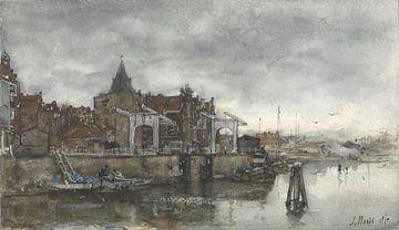 L'extérieur avec les Schreierstoren d'Amsterdam, Jacob Maris