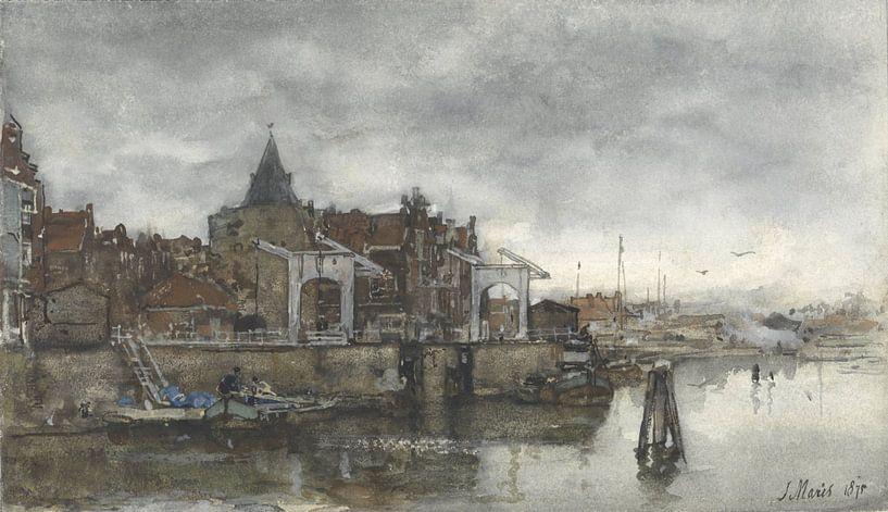Das Äußere mit den Schreierstoren in Amsterdam, Jacob Maris. von Meesterlijcke Meesters