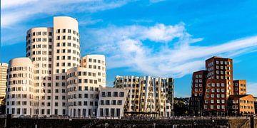 Panorama Gehry Bauten Medienhafen Düsseldorf von Dieter Walther