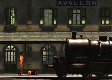 Retro – Klassiek  De trein in de ochtend