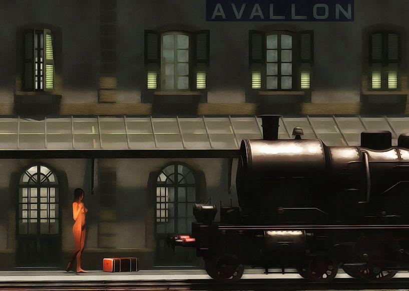 Retro – Klassiek  De trein in de ochtend van Jan Keteleer