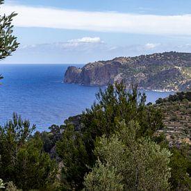 Kustlandschap in het noorden van het Balearen-eiland Mallorca van Reiner Conrad