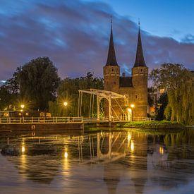 Oostpoort Delft in the Blue Hour - 2 van Tux Photography