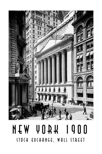 New York 1900: Stock Exchange, Wall Street von Christian Müringer