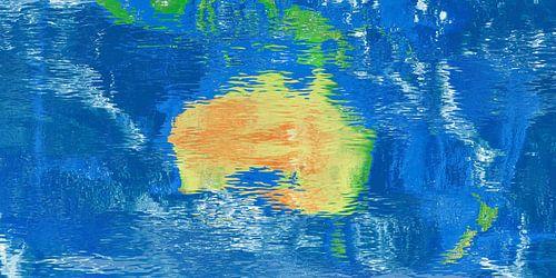 Carte de réflexion de l'eau Australie sur