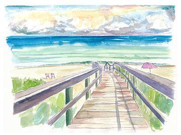 Strandwandeling in Florida tijdens de rustige namiddag van Markus Bleichner