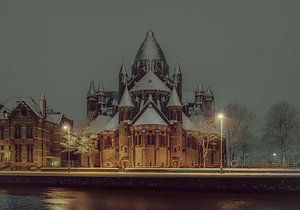 Haarlem: De Kathedrale basiliek Sint Bavo. van
