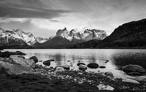 Cuernos del Paine in ZwartWit