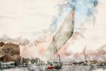 Zeilboot op de Nijl van FotovanHenk