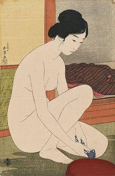 Badende Frau - Hashiguchi Goyo, 1915 von Atelier Liesjes