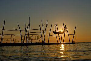 Gouden avond aan zee van Peter Felberbauer