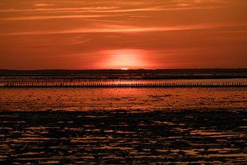 Zonsondergang Ternaard (Frl) von Jakob Huizen van