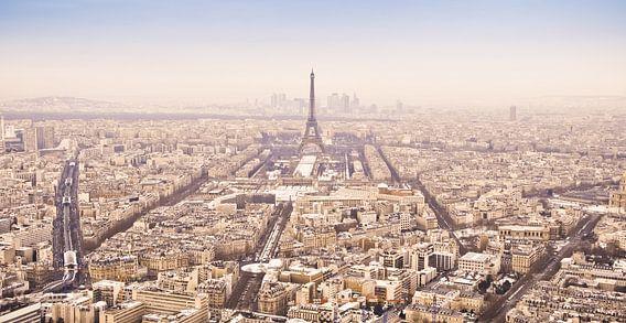 Winterpanorama Parijs (kleur) van Arja Schrijver Fotografie