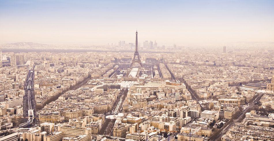 Winterpanorama Parijs (kleur)