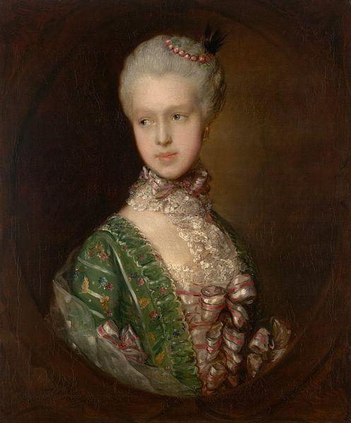 Elizabeth Wrottesley, plus tard Duchesse de Grafton, Thomas Gainsborough sur Meesterlijcke Meesters