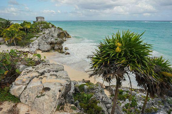 Maya ruines van Tulum - Mexico van Joris Pannemans - Loris Photography