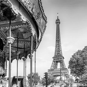 Typisch Paris | Monochrom von Melanie Viola