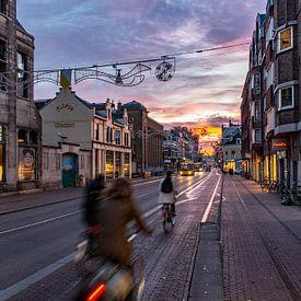 Zonsopkomst boven de Utrechtse Nobelstraat van De Utrechtse Internet Courant (DUIC)