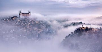 Toledo Stadt nebligen Morgen, Jesús M. García von 1x