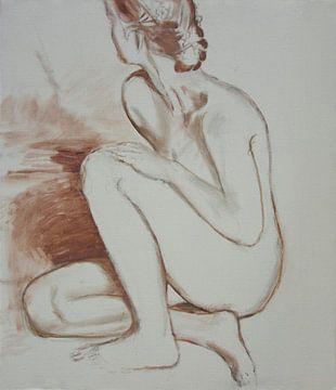 Hockende Frau, sexy nackt von Atelier Liesjes