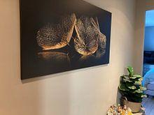 Klantfoto: Hortensiabloemen van C.A. Maas, op canvas