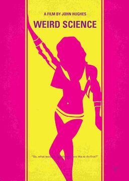 No106 My Weird science minimal movie poster van Chungkong Art