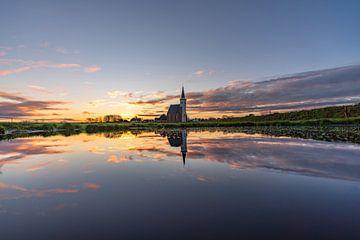 Texel Den Hoorn zonsondergang spiegel effect door kolk