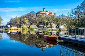 Uitzicht op kasteel Schönfels bij Zwickau van Animaflora PicsStock