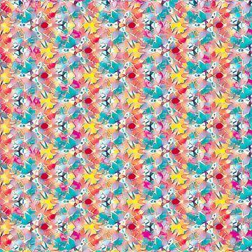 Vrolijk kleurrijk patroon van Rietje Bulthuis