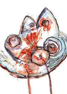 Schale mit Fischen von Christa Kerbusch