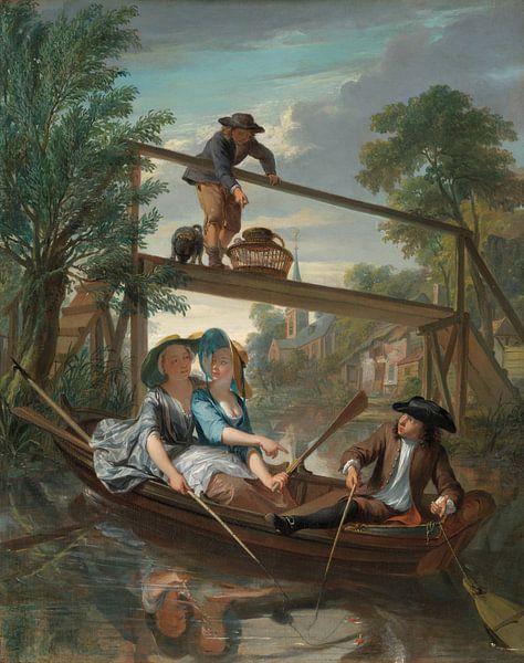 De hengelaars, Nicolaas Verkolje von Meesterlijcke Meesters