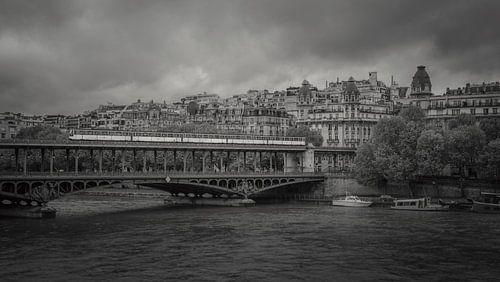 Pont de Bir-Hakeim in Parijs van Toon van den Einde