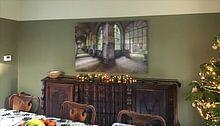 Kundenfoto: Farbiger Korridor von Perry Wiertz, auf alu-dibond