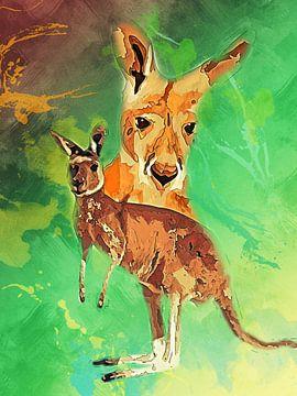Känguru von Printed Artings