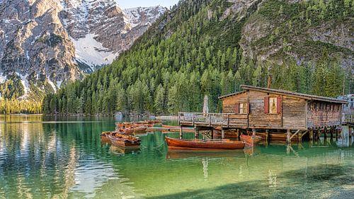 Botenhuis - Lago di Braies - Dolomieten