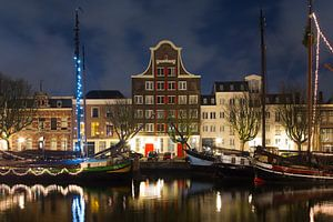 Pand Stockholm Dordrecht nachtfoto