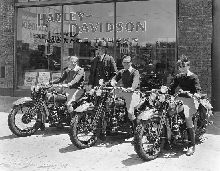 three boys Harley Davidson van harley davidson
