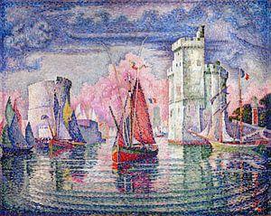 Eingang zum Hafen von La Rochelle, Paul Signac, 1921.