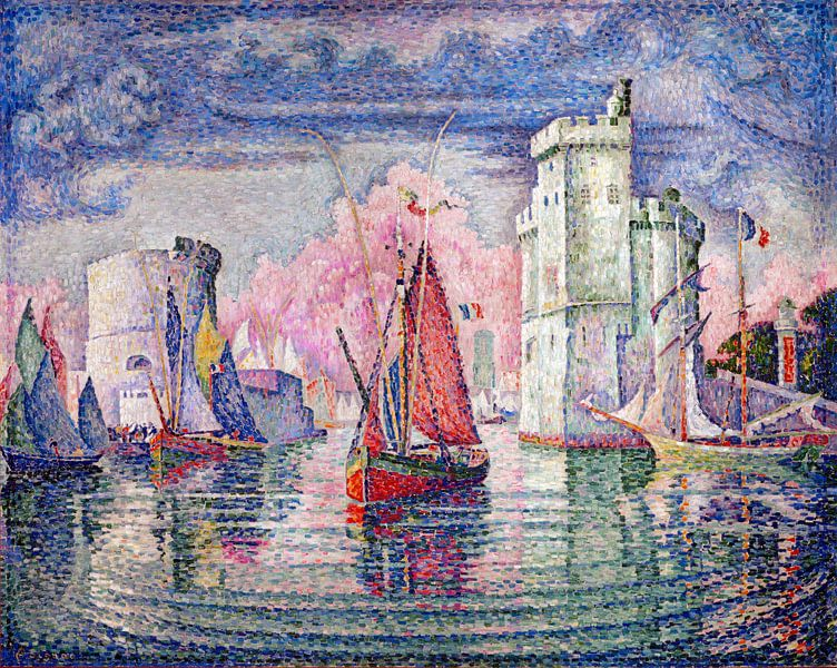 Eingang zum Hafen von La Rochelle, Paul Signac, 1921. von Atelier Liesjes