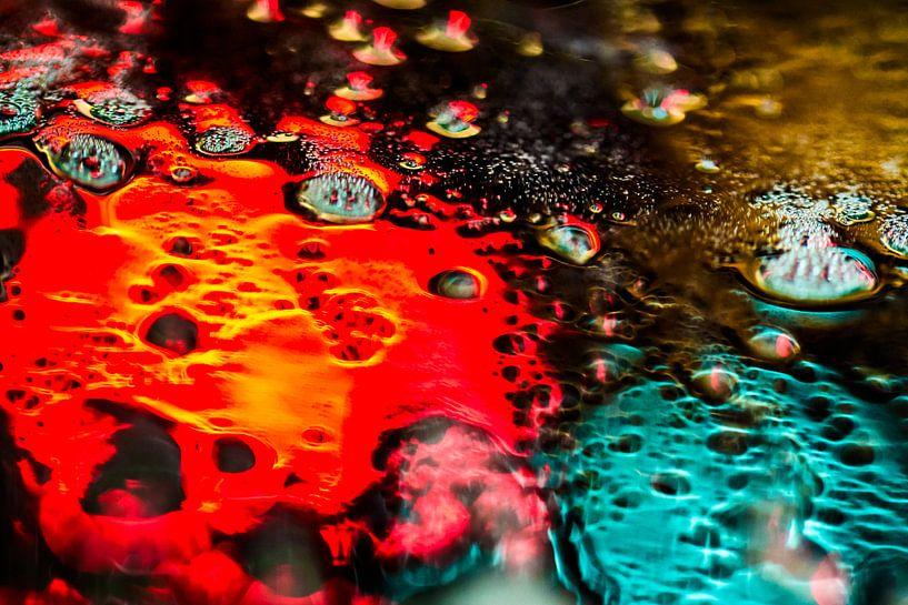 Rood en groen schuim van Mark Scheper