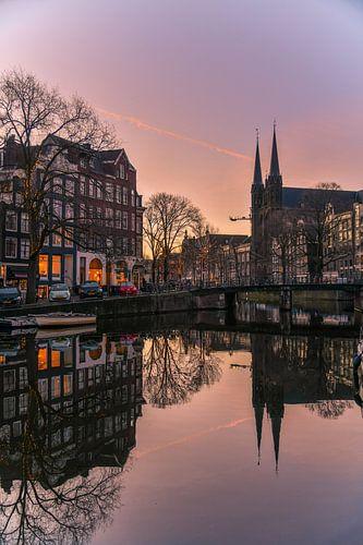 Zonsopkomst in Amsterdam