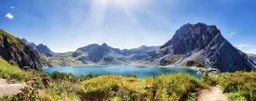 Lünersee Panorama von Fotografie Egmond